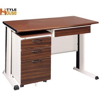 ★結帳現折★《時尚屋》120CM 胡桃木紋色辦公桌櫃組261-4