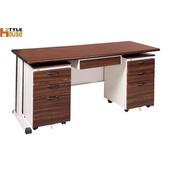 《時尚屋》胡桃木紋色辦公桌櫃組261-5