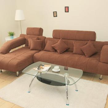 ★結帳現折★椅的世界 拜爾生活L型獨立筒沙發床(咖啡)