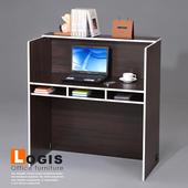 《LOGIS》獨立空間櫃檯桌(胡桃色)