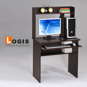 《LOGIS》歐紋桌上架書桌(胡桃色)