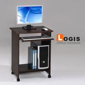 《LOGIS》MIT精巧米尼活動電腦桌(胡桃色)