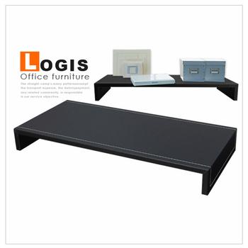 LOGIS MIT加大馬鞍皮螢幕鍵盤架(黑桌上架)