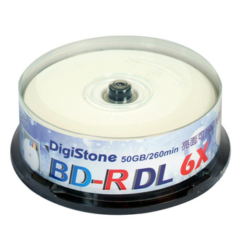 《DigiStone 》A+ 藍光 Blu-ray 6X BD-R DL 50GB 亮面相片滿版可印片/3760dpi X25P布丁