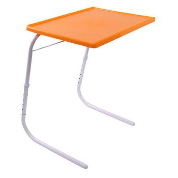智慧王 可折疊升降電腦桌(橘色)