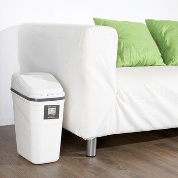 收納家 紅外線感應式自動垃圾桶 10L(白色)