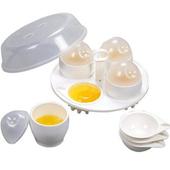 《OKAY》微波家庭號4入兩用煮蛋器