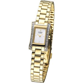 CITIZEN 麗致時尚晶鑽女錶-IP金 EZ6312-52A