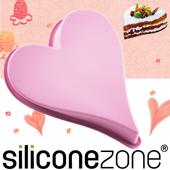 《Siliconezone》施理康耐熱愛心造型大蛋糕模(粉色)