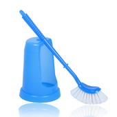 《生活大師》日式馬桶刷 - 附刷座(藍色)