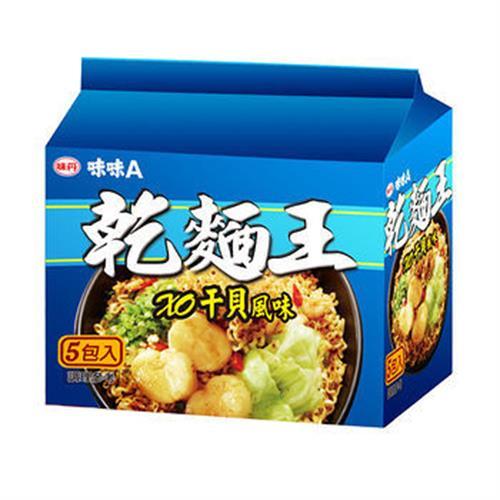 味丹 乾麵王澎湖XO干貝海鮮風味(83gx5包/組)