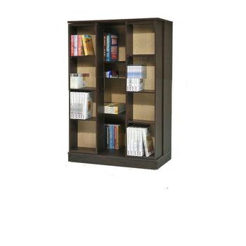 全新小尺寸日式雙排活動書櫃(胡桃)