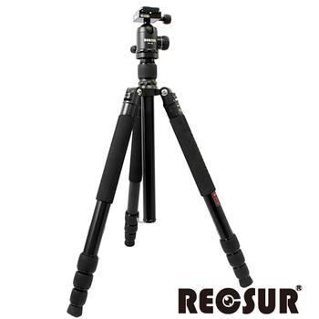 RECSUR 銳攝 台腳七號RS-3284A+VQ-30 四節反折鋁合金腳架(酷炫黑)