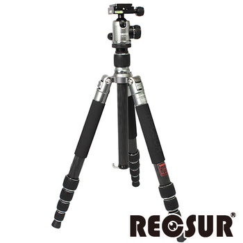 《RECSUR 銳攝》台腳五號 RS-3255C+VQ-20 五節反折碳纖維腳架(羅馬鈦)