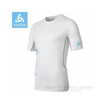 瑞士 ODLO 男款-圓領短袖T恤 /391432(白 M)