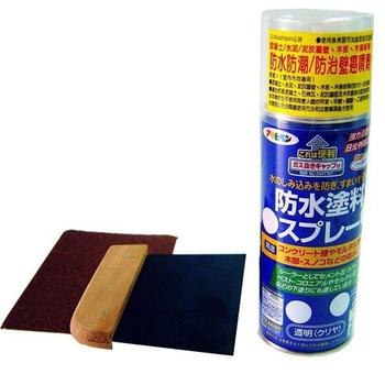 Asahipen 日本強力牆壁防水/防壁癌修補組(附防水/防壁癌噴劑420ML+鐵刮板1只 +砂紙2張)