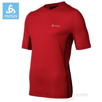 瑞士 ODLO 男款 彈性透氣短袖排汗T恤 / 346132(紅 S)