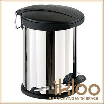 ikloo 不鏽鋼腳踏垃圾桶-5L(台灣製造)