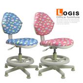 《LOGIS》守習.微笑河馬 兒童椅/成長椅/電腦椅(粉藍)