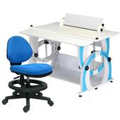 《時尚屋》KIWI兒童伸縮成長書桌椅組-天空藍(藍色椅)