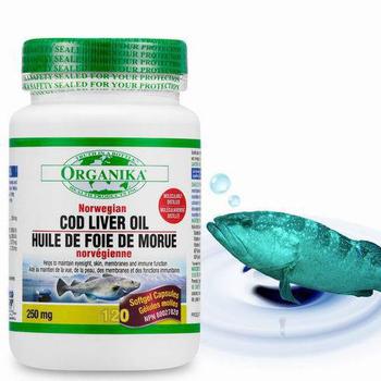 Organika優格康 鱈魚肝油(120顆)