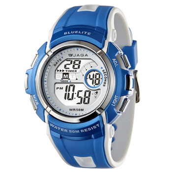 JAGA捷卡 M688多功能防水運動電子錶(藍色)