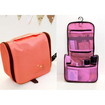 JTourist 韓版旅行用盥洗包/化妝包/小物收納包(粉紅)