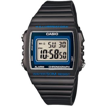 CASIO 繽紛個性馬卡龍休閒電子錶(深灰) W-215H-8A