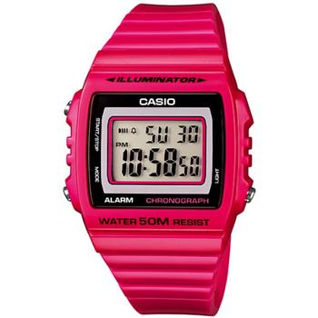 CASIO 繽紛個性馬卡龍休閒電子錶(桃紅) W-215H-4A