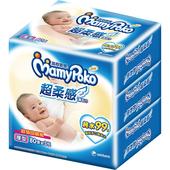 《滿意寶寶》超柔感純水濕巾-厚型(80片*3包/組)