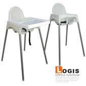 《LOGIS》童趣寶寶餐椅 餐椅 兒童餐椅 成長椅(白餐椅)