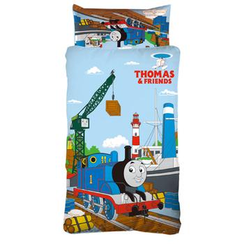 《Thomas歡樂湯瑪士-港口篇》兒童睡袋(4X5尺)(藍)