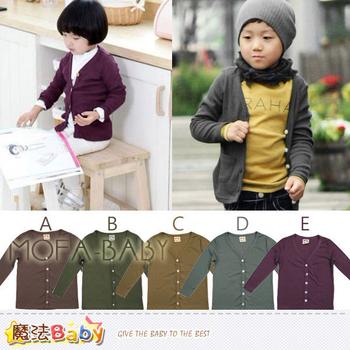 魔法Baby 薄針織螺紋布開襟外套(A.B.C.D.E)~男女童裝~k29185(A/120)