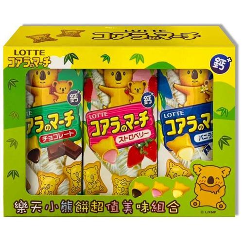 《Lotte》樂天小熊餅乾-超值美味組合(37g*3入/盒)