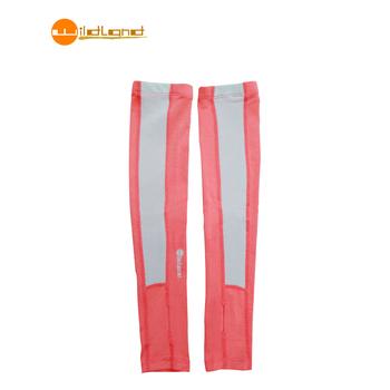 WildLand荒野 中性開洞UV透氣袖套-78粉橘(L)