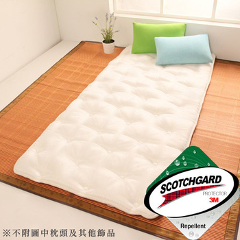 HomeBeauty 超級Q彈棉透氣防潑水收納床墊-單人(星白)