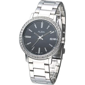 ALBA 完美晶鑽潮流風女腕錶-黑 AG8273X1