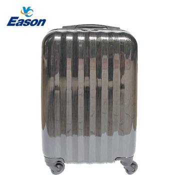 《YC Eason》24吋繽紛鏡面二代PC系列行李箱/登機箱(髮絲黑)