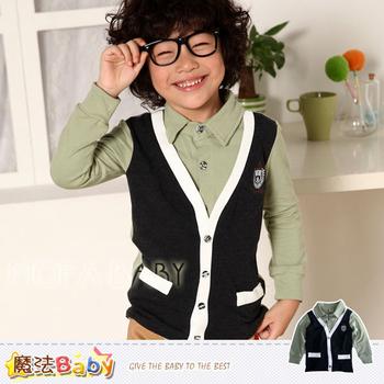 魔法baby DODOMO品牌~紳士風假兩件上衣~男童裝~k29161(9)