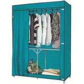 【免工具】折疊式鐵管吊衣櫥-附布套4色可選-80公分寬(綠色)