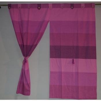 櫻之舞 新彩虹純棉窗簾6色-150*150(紫色)