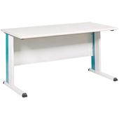 《時尚屋》辦公桌180CM綠/灰腳KD