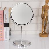 薇亞彩妝桌上雙面鏡(銀色)