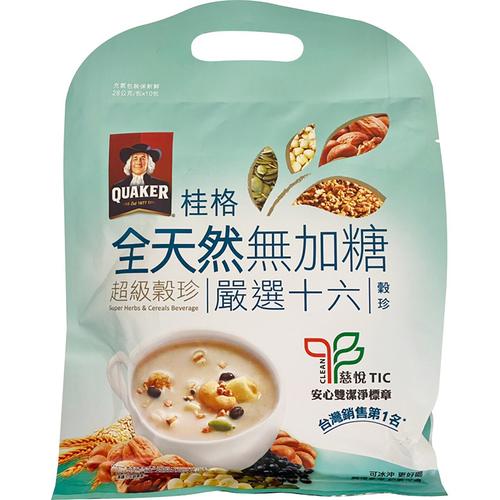 桂格 超級無糖穀珍十六穀(28G*10/袋)