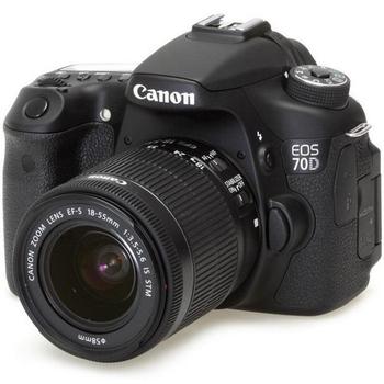 Canon 70D 18-55 單鏡組(公司貨)★送32G SD記憶卡+專用電池+UV保護鏡(58mm)+專用相機包