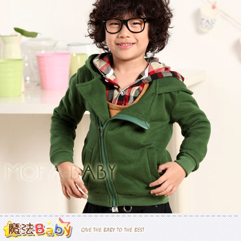 魔法Baby DODOMO品牌~韓版厚款斜拉鍊連帽外套/上衣~k29840(7)