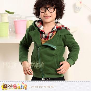 魔法Baby DODOMO品牌~韓版厚款斜拉鍊連帽外套/上衣~k29840(9)