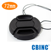 《CBINC》72mm 夾扣式鏡頭蓋 - 附繩(72mm)