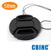 《CBINC》58mm 夾扣式鏡頭蓋 - 附繩(58mm)贈GT-02桌上腳架