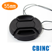 《CBINC》55mm 夾扣式鏡頭蓋 - 附繩(55mm)